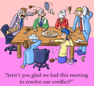I'm glad we had this meeting to resolve conflict